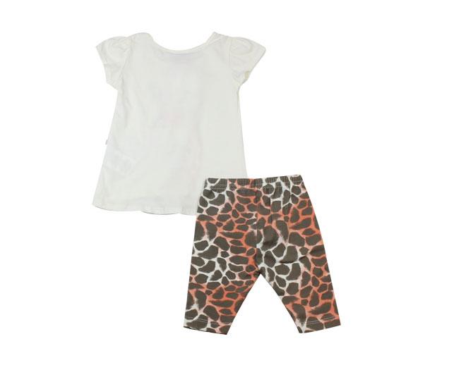 Conjunto infantil feminino girafa pretty brandili