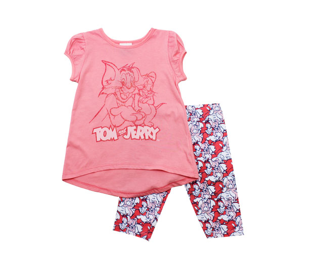 Conjunto Infantil Feminino Rosa Tom and Jerry