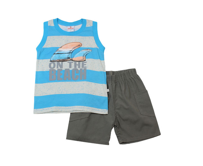 Conjunto Infantil Masculino On The Beach Brandili