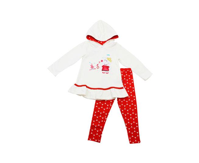 ... Conjunto Inverno Feminino Kyly Blusa Creme e Calça - Criança e Bebê ... fd8930d880f67