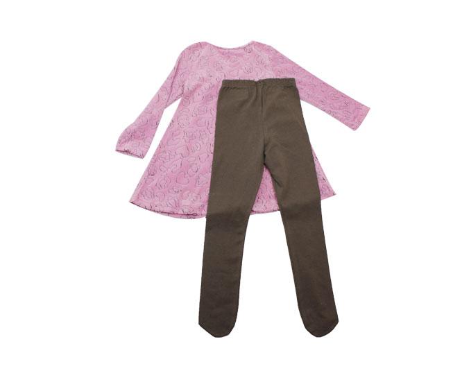 Conjunto Inverno Infantil Feminino Camiseta e Calça Kyly