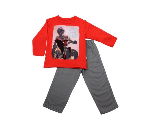 Conjunto Inverno Infantil Masculino Vermelho Kyly