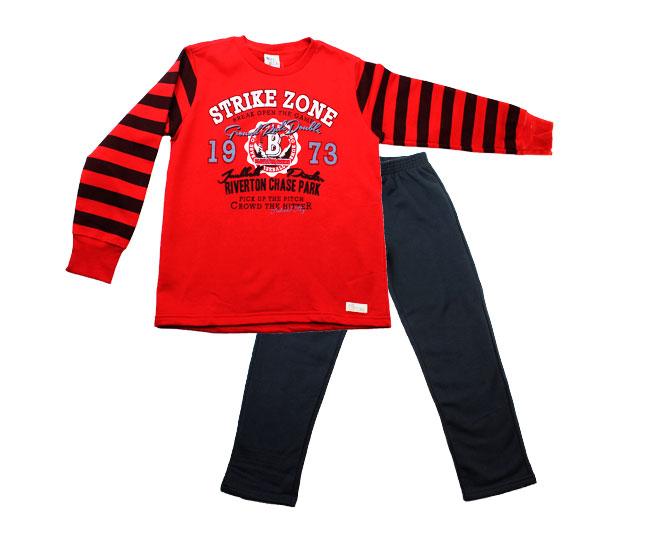 Conjunto Inverno Infantil Masculino Vermelho Pulla Bulla