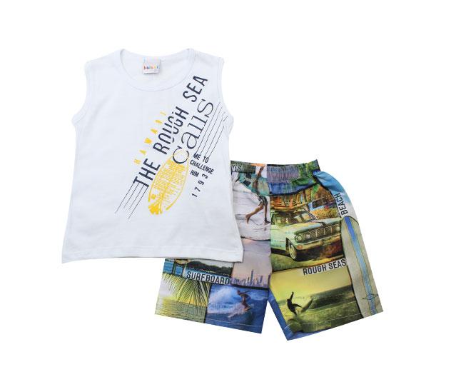 Conjunto Masculino Camiseta de Surf + Short Kaiani