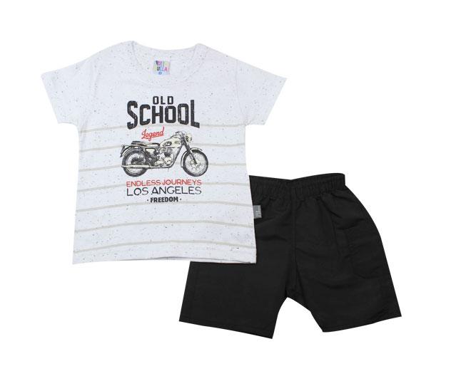 "Conjunto Masculino Camiseta ""OLD SCHOOL"" + Short Pulla Bulla"