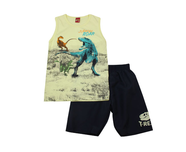 Conjunto Masculino Dinossauros Kyly