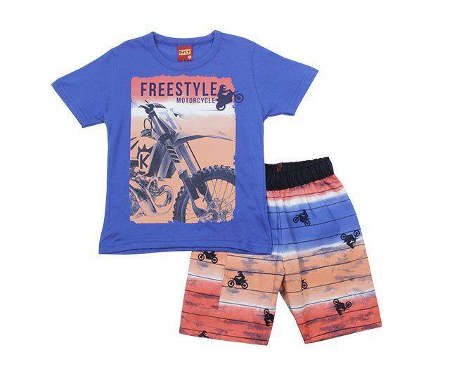 Conjunto Masculino Estampado Moto Freestyle Kyly