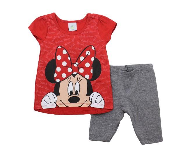 1fd9683b5a0 ... Conjunto Minnie Vermelho Brandili - Criança e Bebê ...