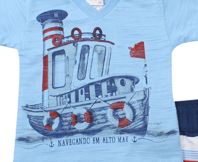 "Conjunto Masculino ""Navegando em Alto Mar"" Kaiani"
