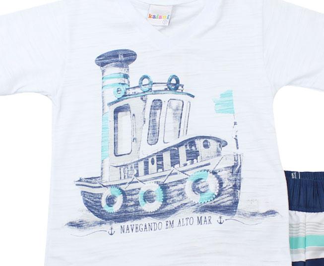 """Conjunto """"Navegando em Alto Mar"""" Branco Kaiani"""