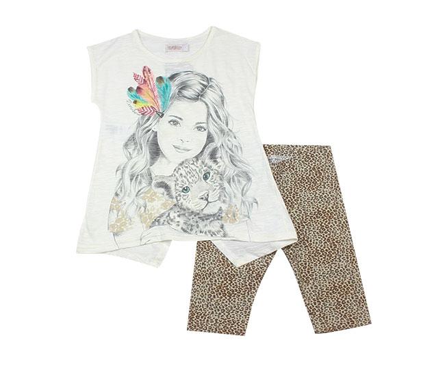 Conjunto Oncinha Amiga Legging+Camiseta Carinhoso