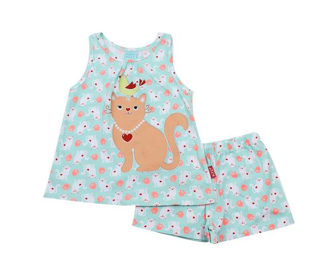 Conjunto Pijama Feminino que Brilha no Escuro Kyly