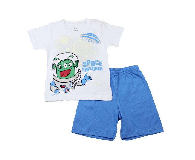 """Conjunto Pijama Masculino Brandili Camiseta de ET """"Space Explorer"""" + Short"""