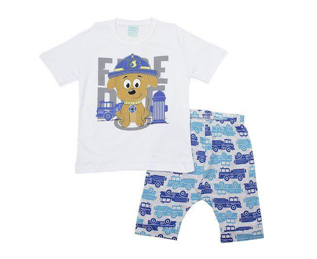 Conjunto Pijama Masculino Estampado Cachorrinho Kyly