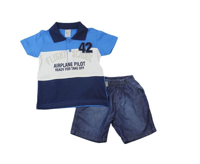 """Conjunto Masculino Polo """"Flight school""""  Pulla Bulla"""