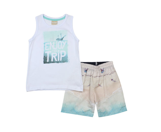 Conjunto Regata + Short Enjoy the Trip