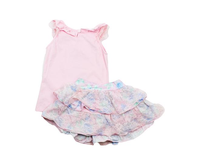 Conjunto  Rosa Feminino Infantil Rociclê