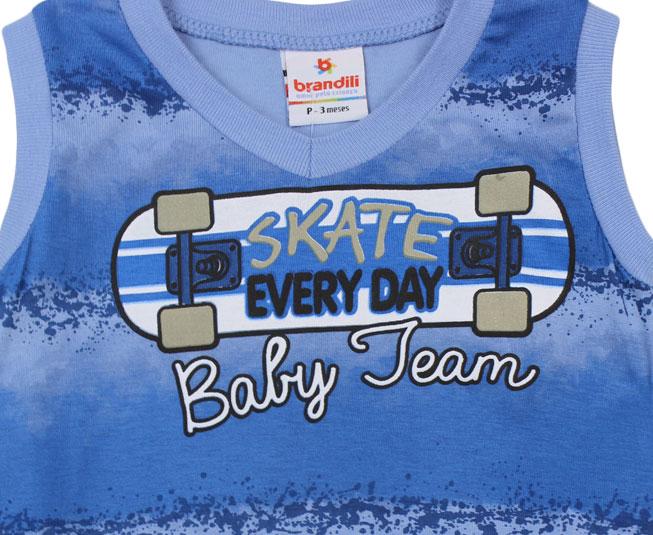 Conjunto 'Skate everyday'  Azul Brandili