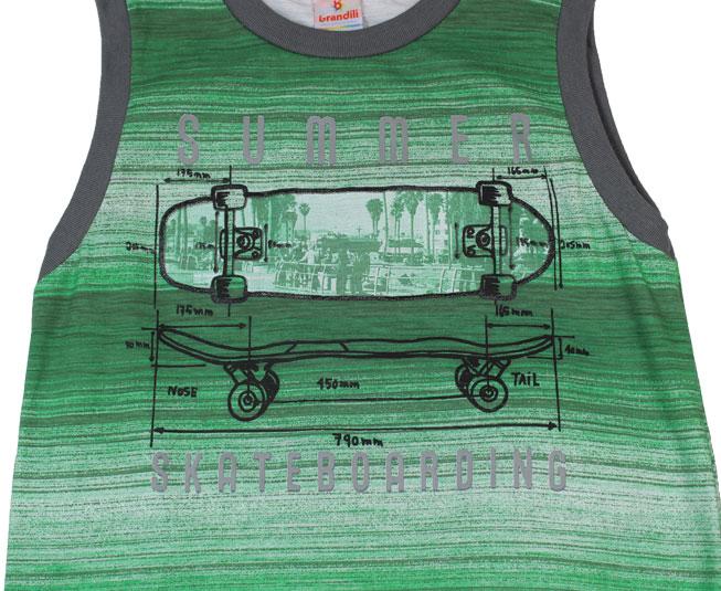 Conjunto 'Summer Skateboarding' Verde Brandili