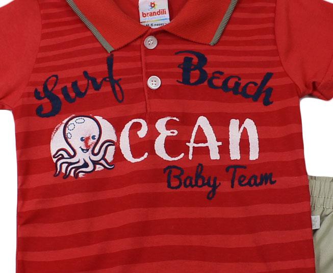 "Conjunto Masculino ""Surf beach ocean"" Brandili"