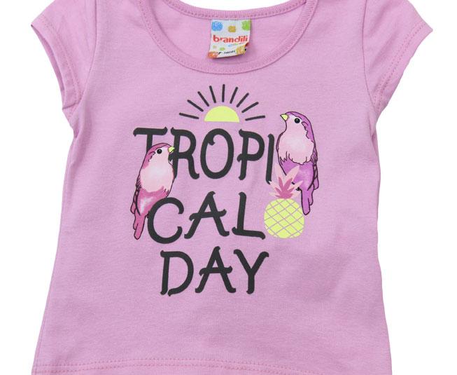 Conjunto Feminino 'Tropical Day' Rosa Brandili