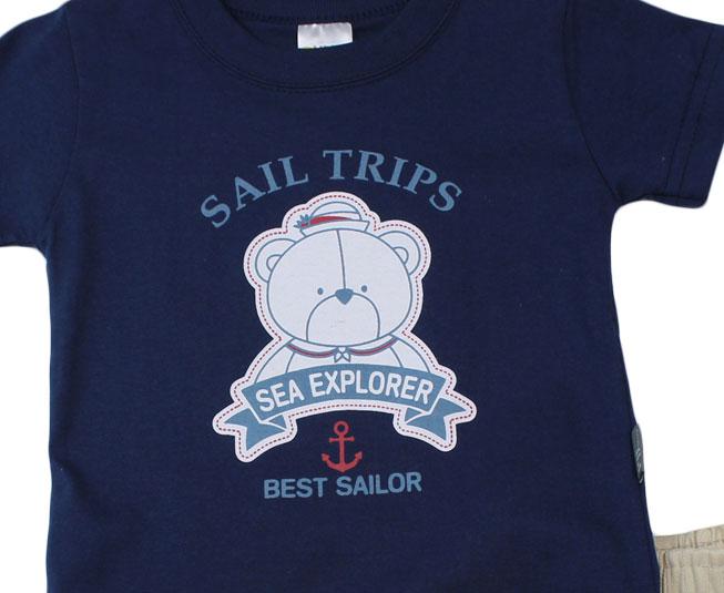 "Conjunto ""Ursinho Explorador do Mar"" Pulla Bulla"