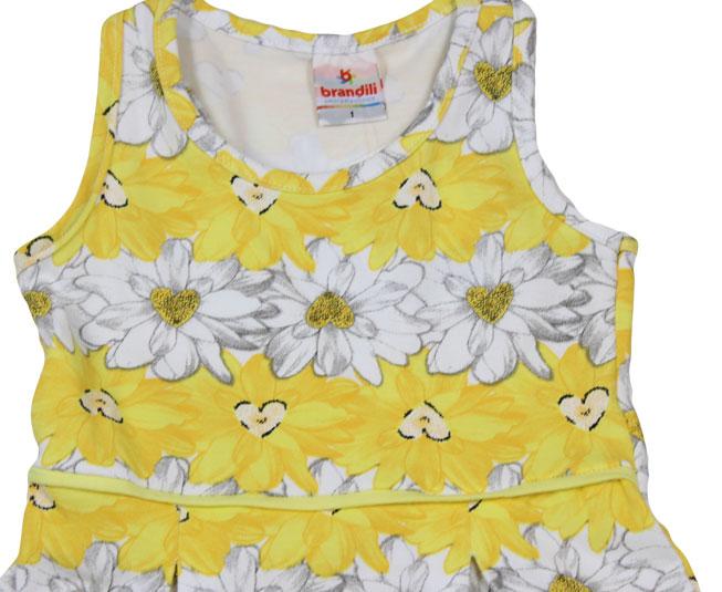 Conjunto Vestido + Short  Amarelo Florido Brandili