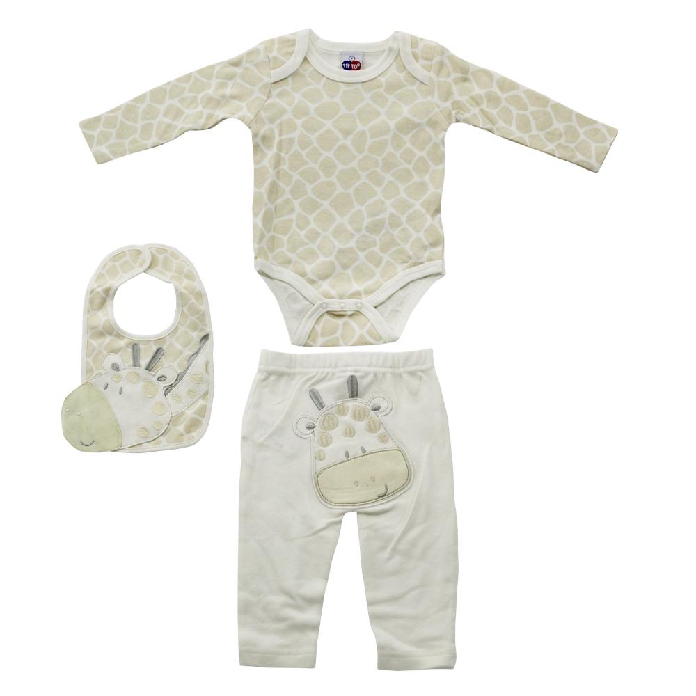 Kit Body Bebê Menino Tip Top Girafa
