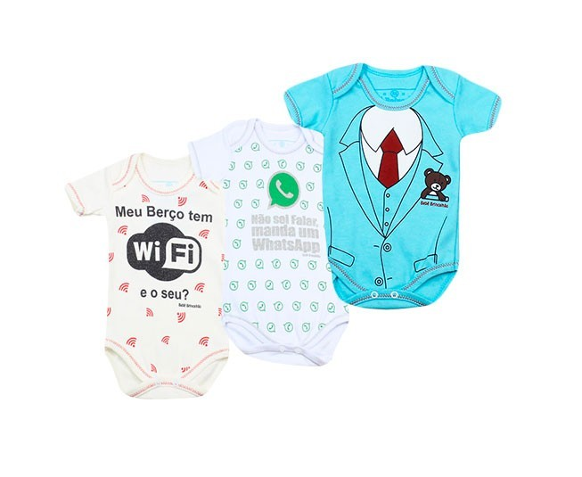 Kit Body Manga Curta Whatsapp Wifi Terno