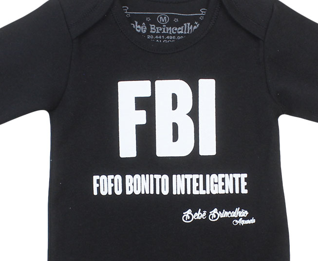 Kit Body Manga Longa Principe FBI