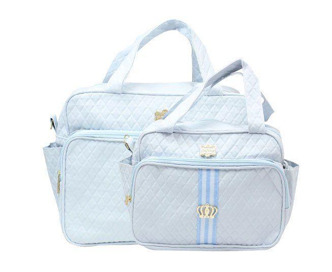 Kit Bolsa Maternidade Azul Coroa Griff Baby
