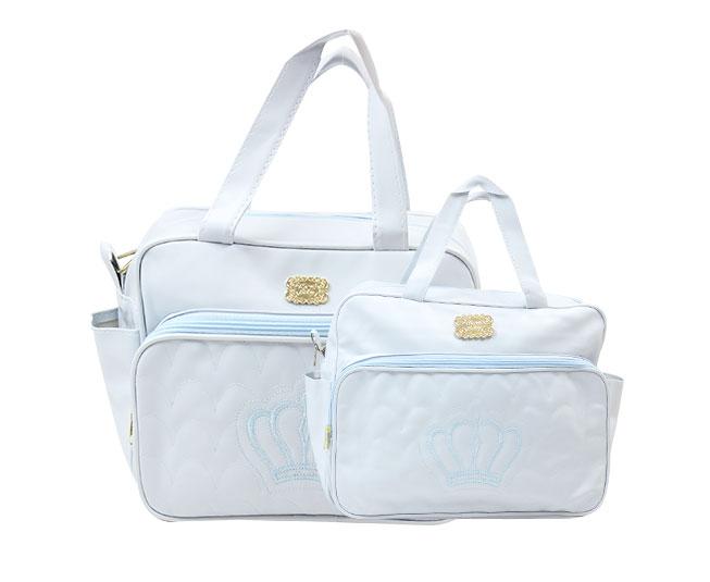 Kit Bolsa Maternidade Coroa Azul Claro Mave Baby