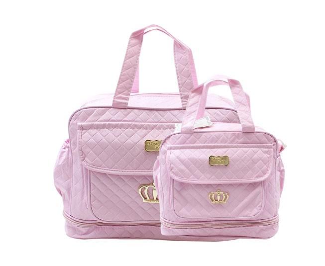 4251ca64a ... Kit Bolsa Maternidade Rosa Coroa Mave Baby - Criança e Bebê ...