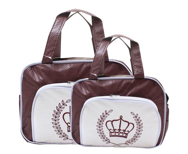 Kit de Bolsa Maternidade Coroa Vinho Mave Baby