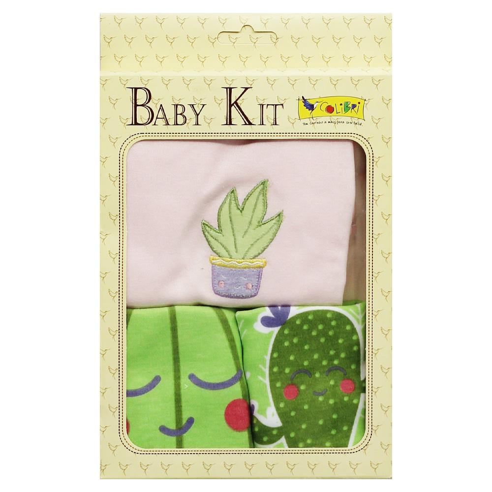 Kit Presente Bebê Menina Cactos