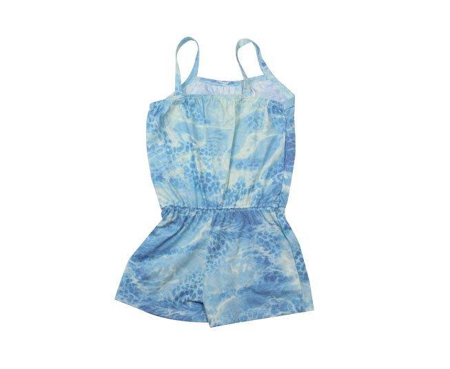 Macacão Bebe Menina Regata Azul Milon
