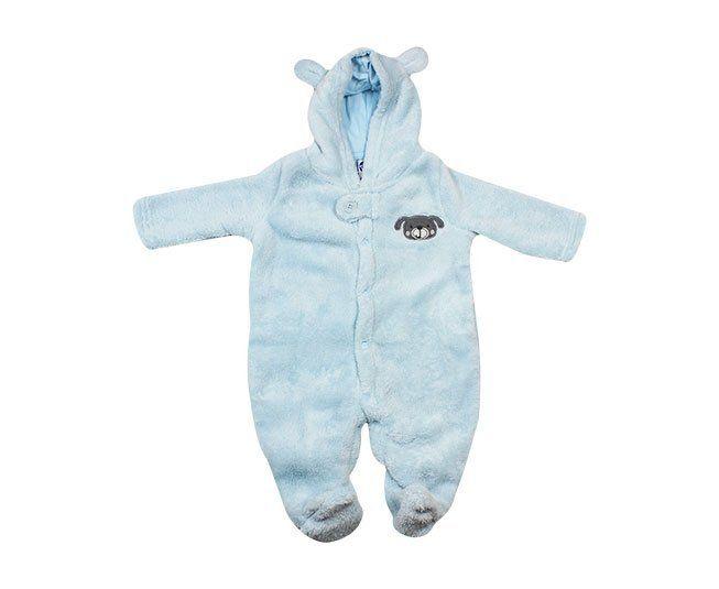 2b0c4e5001f ... Macacão Bebe Menino Manga Longa Azul Dog com Capuz Tip Top - Criança e  Bebê ...