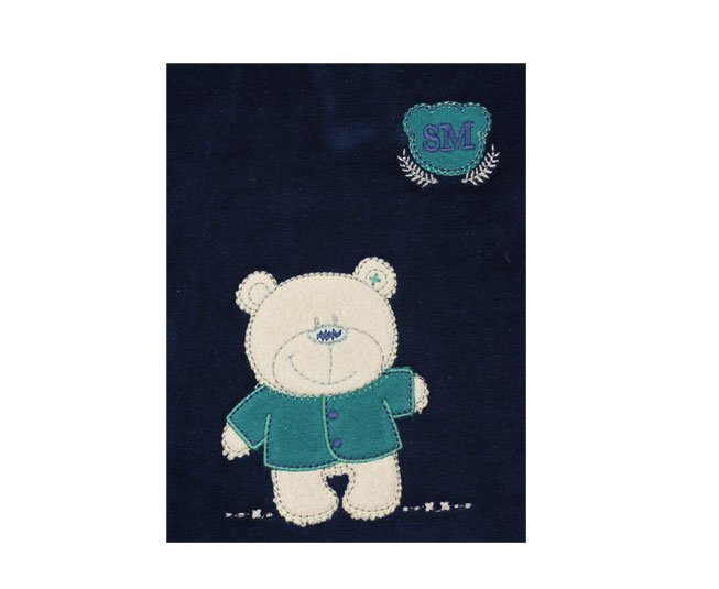 Macacão Bebe Menino Manga Longa Azul e Verde Sonho Magico