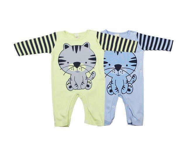 Macacão Bebê Menino Manga Longa Tigrinho Várias Cores Smoby Baby