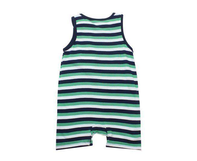b335aac56d2 Macacão Bebe Menino Regata Banho de Sol Listrado Verde Tip Top - Criança e  Bebê ...