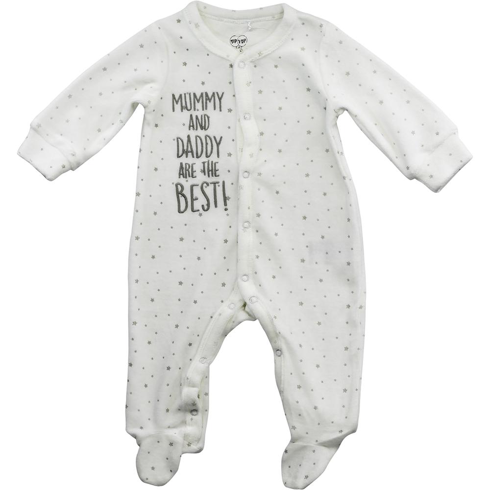 Macacão Tip Top Plush Off White Mommy
