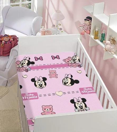 Manta De Bebê Menina Minnie Rosa Ursinho