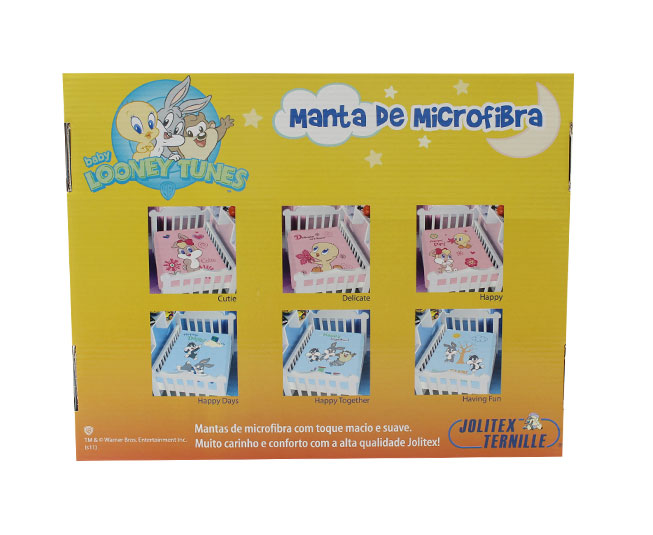 Manta de Microfibra Jolitex Ternille Baby Looney Tunes Delicate