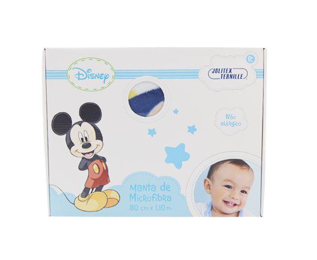 Manta Mickey Azul Desenhando