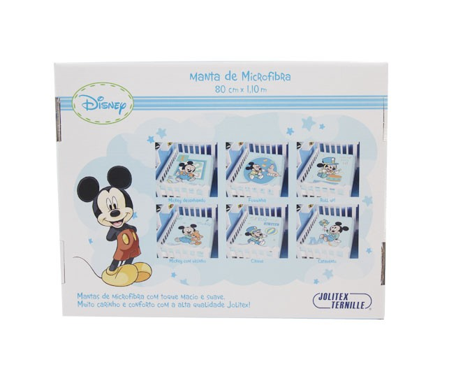 Manta Mickey Azul Ursinho