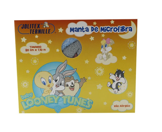 Manta Microfibra Baby Looney Tunes Nature