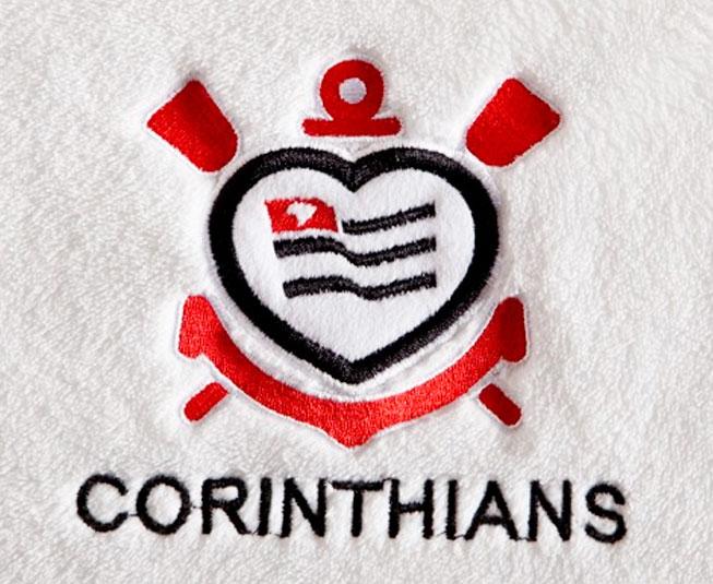Manta Microfibra Corinthians de Coração Branco