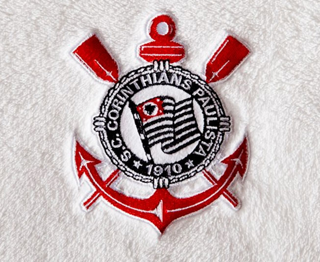 Manta Microfibra Jolitex Corinthians Branco