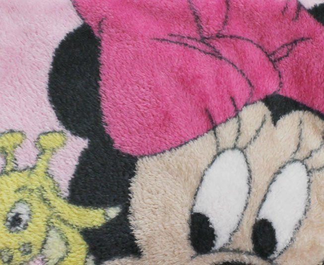Manta Microfibra Rosa Minnie Girafinha