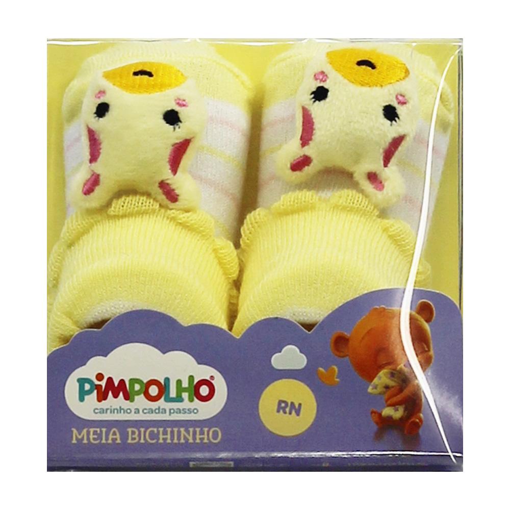 Meia De Bebê Menina Girafinha Amarelo Pimpolho